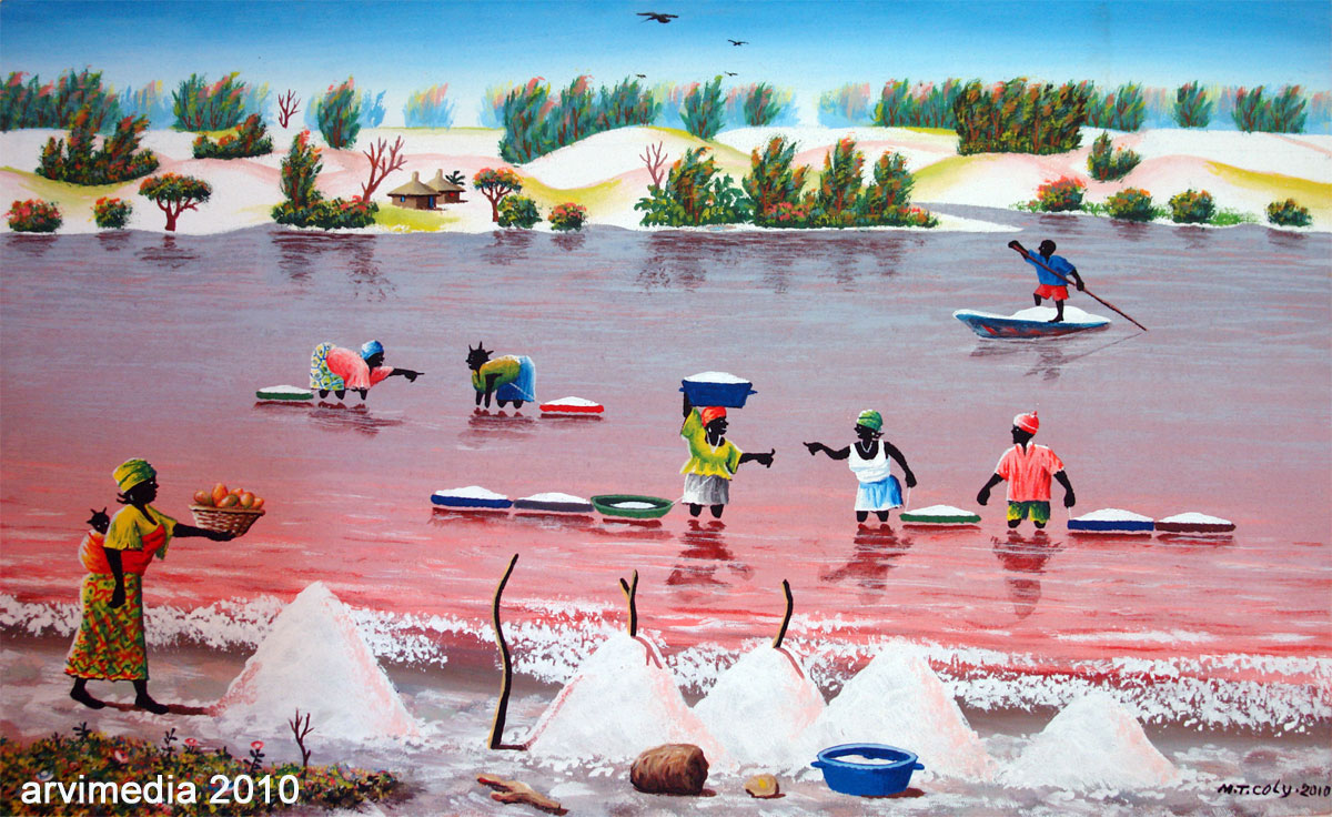 lake retba lac rose high levels of salt senegal. Black Bedroom Furniture Sets. Home Design Ideas