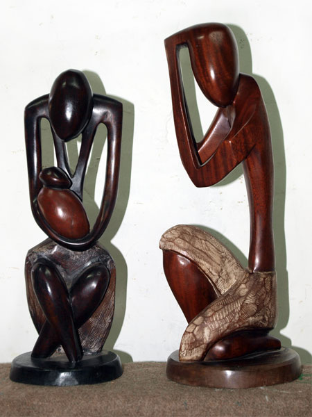 sculpture bois senegal